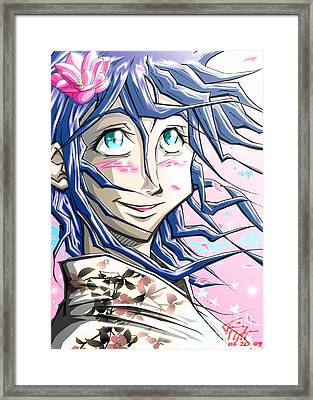 Tokyo Girl Framed Print by Tuan HollaBack