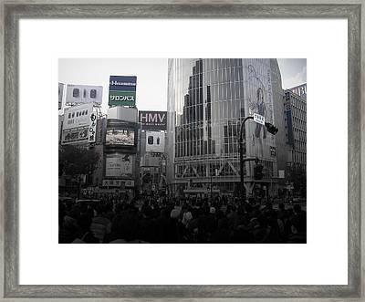Tokyo Intersection 1 Framed Print