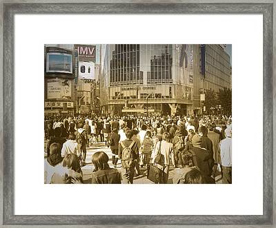Tokyo Intersection Framed Print by Naxart Studio