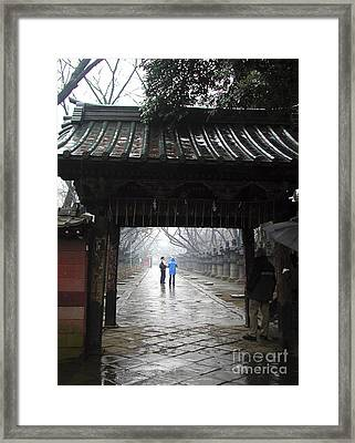 Framed Print featuring the photograph Tokyo by Leslie Hunziker