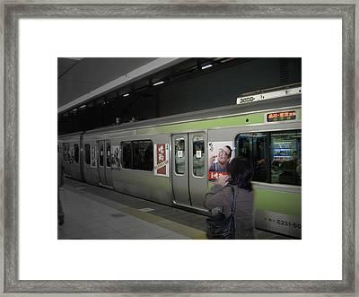 Tokyo Metro Framed Print by Naxart Studio