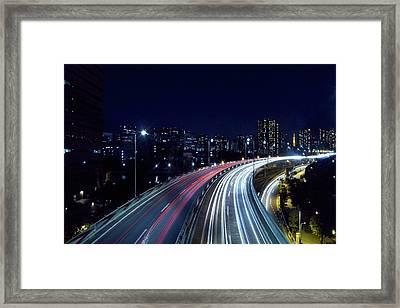 Tokyo Metropolitan Expressway Framed Print by Sinkdd