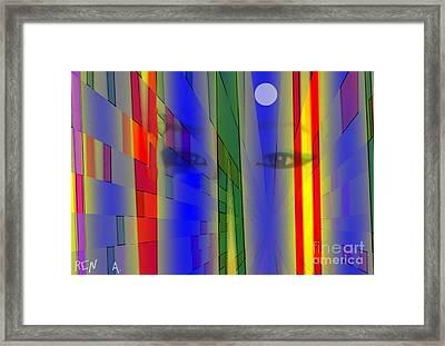 Tokyo Night Framed Print by Rene Avalos