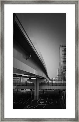 Tokyo Overpass Framed Print by Naxart Studio