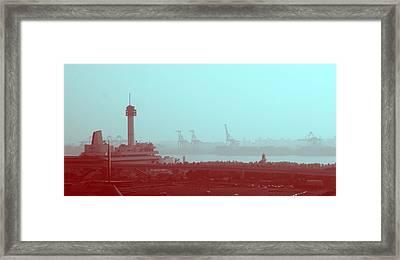 Tokyo Port Framed Print by Naxart Studio