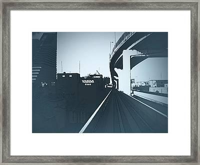 Tokyo Ride Framed Print by Naxart Studio