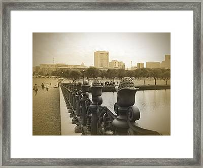 Tokyo Square Framed Print by Naxart Studio