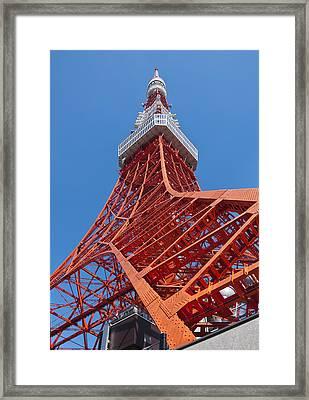 Tokyo Tower Framed Print by George Hawkins