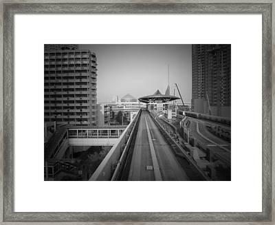 Tokyo Train Ride 1 Framed Print