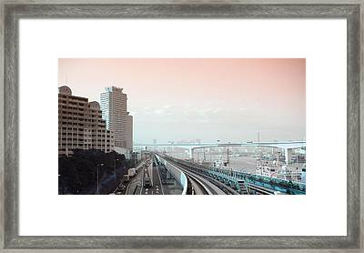 Tokyo Train Ride 3 Framed Print
