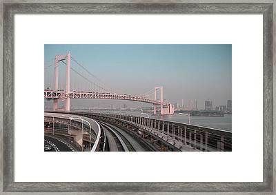 Tokyo Train Ride 4 Framed Print