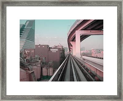Tokyo Train Ride 5 Framed Print