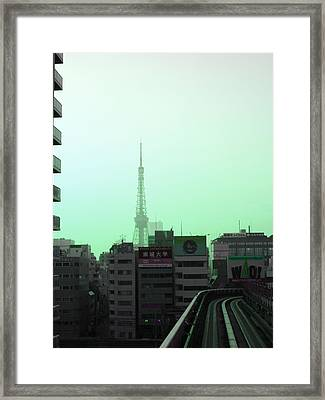 Tokyo Train Ride 7 Framed Print