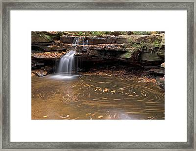 Framed Print featuring the photograph Tolliver Falls by Jeannette Hunt