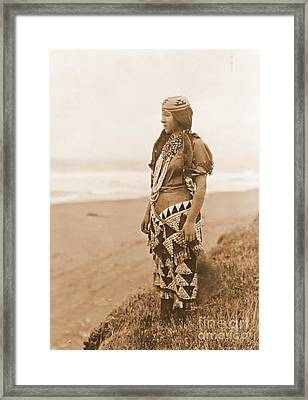 Tolowa Womans Primitive Dress Framed Print
