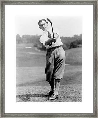Framed Print featuring the photograph Tom Armour Wins Us Golf Title - C 1927 by International  Images