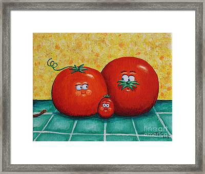 Tomato Family Portrait Framed Print by Jennifer Alvarez