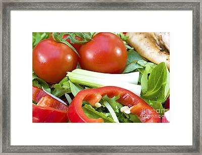 Tomato Salad Close Up Framed Print by Simon Bratt Photography LRPS