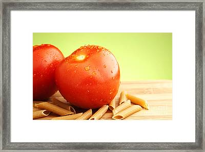 Tomatoes And Pasta Framed Print