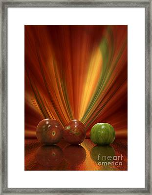 Framed Print featuring the digital art Tomatoes by Johnny Hildingsson