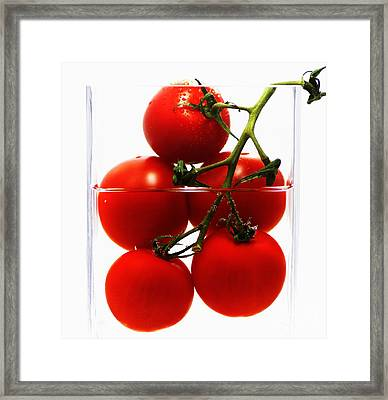 Tomatos Art Abstract Framed Print by Tanja Riedel