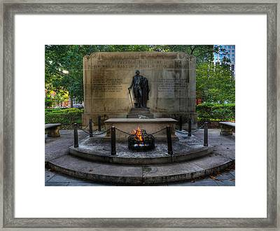 Tomb Of The Unknown Revolutionary War Soldier II - George Washington  Framed Print by Lee Dos Santos
