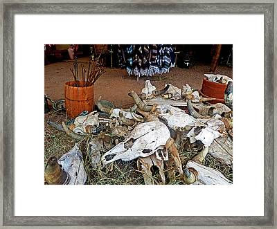 Framed Print featuring the photograph Tombstone Treasures by Helen Haw