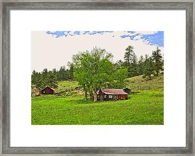 Tom's Old Cabin Framed Print by James Steele