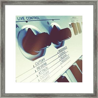 #toner #live #control #keyboard Framed Print