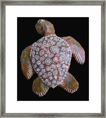 Toni The Turtle Framed Print by Dan Townsend