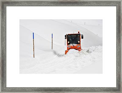 Tons Of Snow - Winter Road Clearance Framed Print by Matthias Hauser