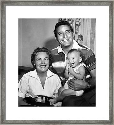 Tony Bennett, Wife Patricia, Son Framed Print by Everett