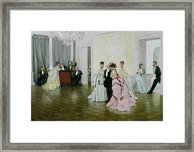 Too Early Framed Print by James Jacques Joseph Tissot