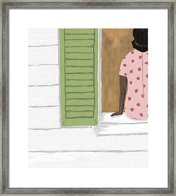 Too Hot In Church Today Framed Print by Sarah Countiss