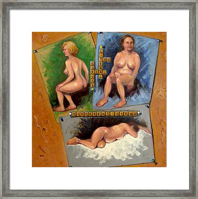 Too Literal Framed Print by Donelli  DiMaria