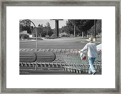 Framed Print featuring the photograph Too Many Carts by Renee Trenholm