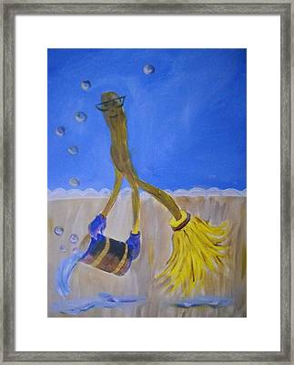 Too Much Soap Framed Print by Marian Hebert