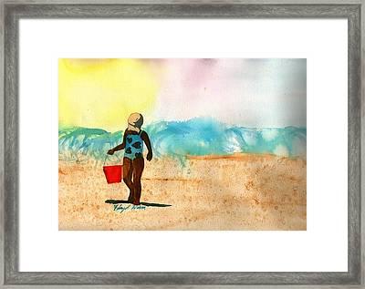 Too Much Sun Framed Print by Floyd  Hiser