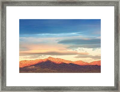 Tooele County Mountains At Sunrise Framed Print by Tracie Kaska