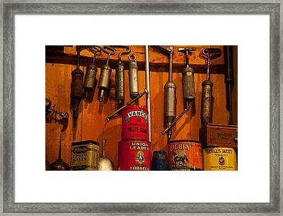 Tool Shop Framed Print by Karol Livote