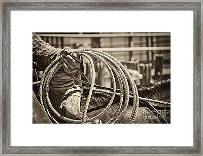 Tools Of The Trade At Work Framed Print by Megan Chambers