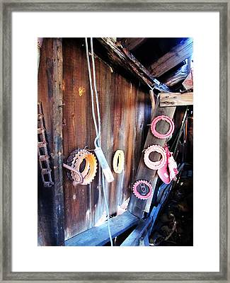 Tools Framed Print by Todd Sherlock