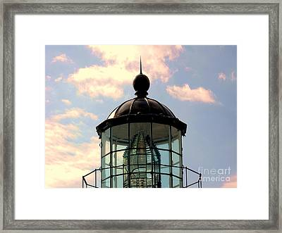 Top Of Bonita Lighthouse Framed Print by Kathleen Struckle