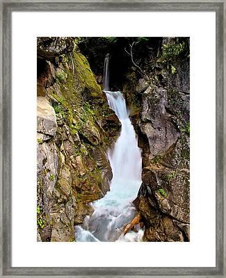 Top Of Christine Falls Framed Print