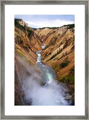 Top Of Lower Falls Framed Print