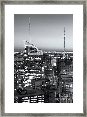 Top Of The Rock Twilight Vii Framed Print by Clarence Holmes