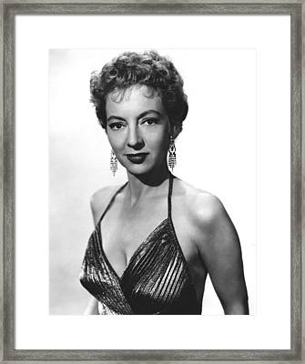 Top Of The World, Evelyn Keyes, 1955 Framed Print