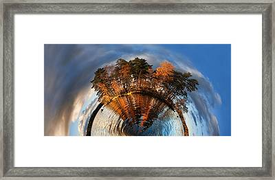 Top Of The World Lake Vuoksa Planet-rise Framed Print
