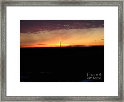 Framed Print featuring the photograph Topeka Sunset by Mark McReynolds