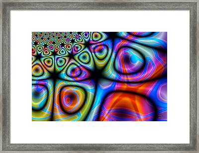 Topological Foam Of Quantized Space-time Framed Print by Manny Lorenzo